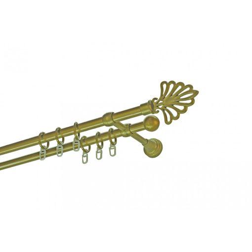 Műanyag-fém modern karnisszett kétsoros antik arany 300 cm