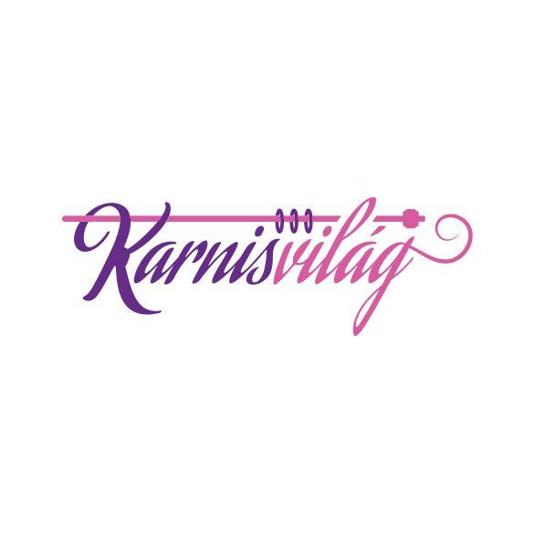 Toboz kétsoros fém függönykarnis szett szatén nikkel