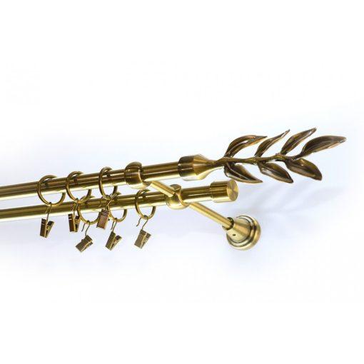 Laurelkétsoros fém függönykarnis szett antik arany