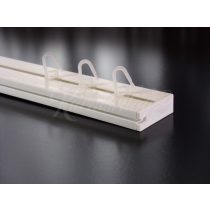 Műanyag függönykarnis mennyezeti sínes egysoros 210 cm