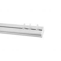 Műanyag függönykarnis mennyezeti sínes egysoros 250 cm