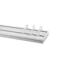 Műanyag függönykarnis mennyezeti sínes kétsoros 210 cm