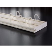 Műanyag függönykarnis mennyezeti sínes kétsoros 300 cm