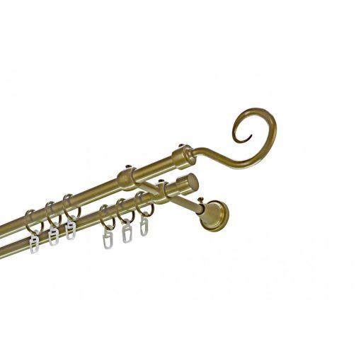Siera horog kétsoros fém karnis szett antik arany 200 cm