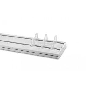 Kétsoros sínes műanyag függönykarnis szett
