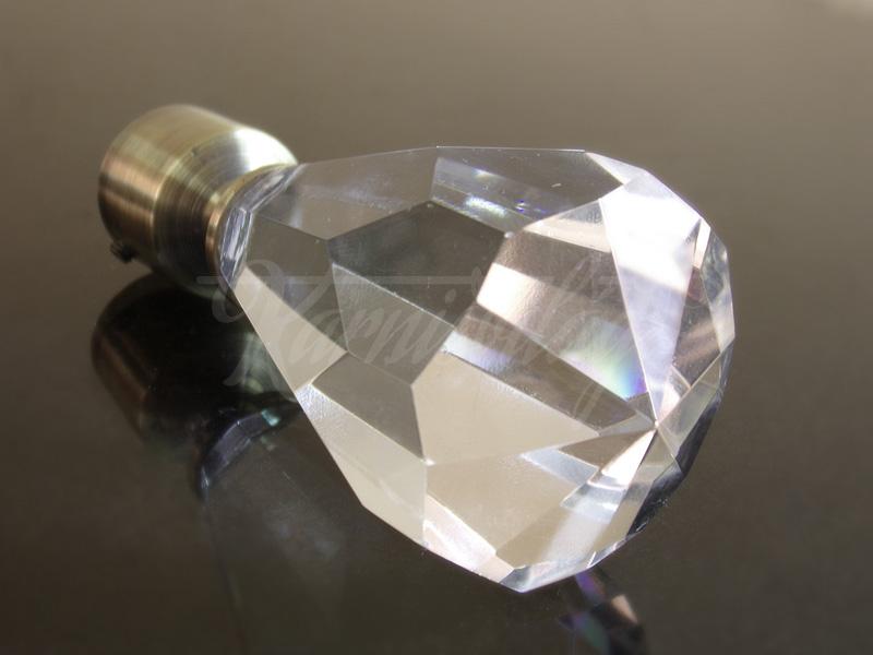 Cristal antik arany fém függönykarnis végzáró
