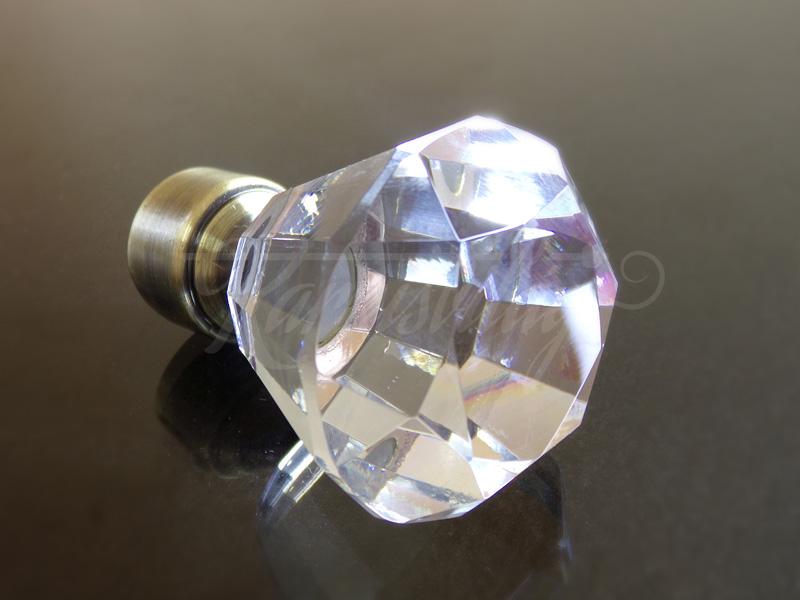 Cristal Diamond antik arany fém karnis végzáró