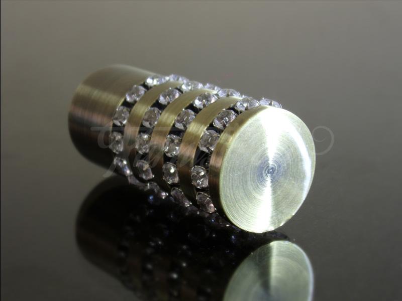 Cristal henger antik arany fém karnis végzáró
