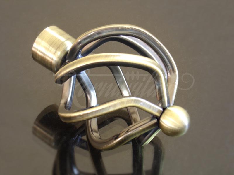 Csavart gömb antik arany fém karnis végzáró