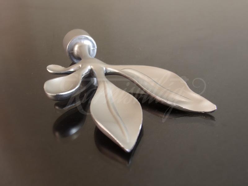 Szatén nikkel  Bavaro fém függönykarnis végzáró