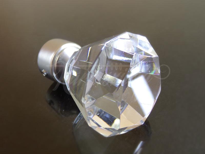 Cristal Diamond  szatén nikkel fém karnis végzáró