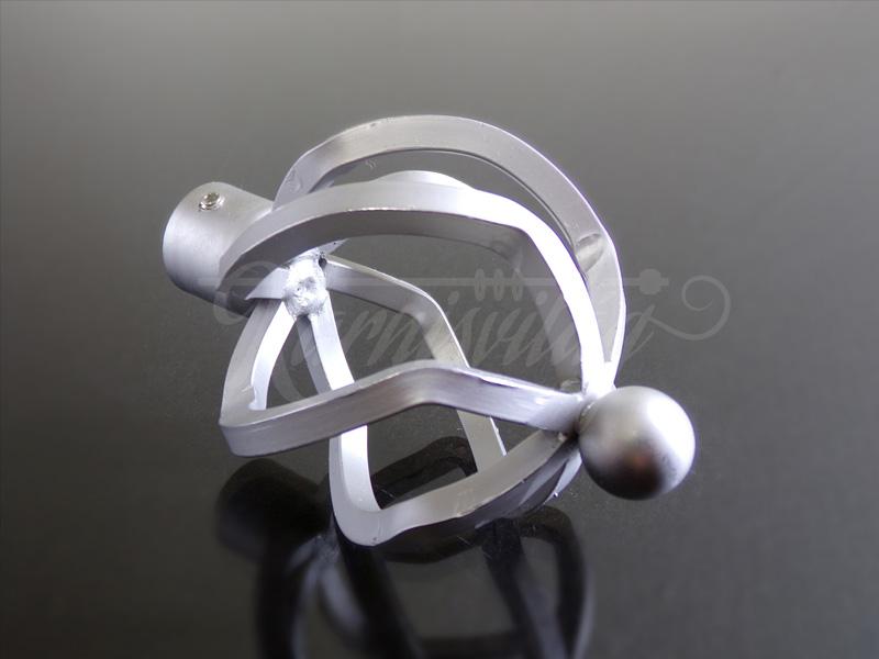 Csavart gömb  szatén nikkel fém karnis végzáró