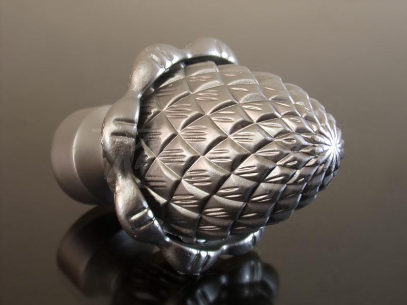 Toboz  szatén nikkel fém karnis végzáró elem